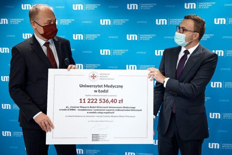 Centrum Wsparcia Badań Klinicznych powstanie przy Uniwersytecie Medycznym w Łodzi